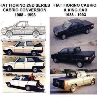 1985 FIAT FIORINO KERABOS CONVERTIBLE MODIFICATION. 2ND SERIES