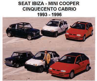 1990 MINI COOPER KERABOS CONVERTIBLE MODIFICATION. 1992 SEAT IBIZA KERABOS CONVERTIBLE MODIFICATION
