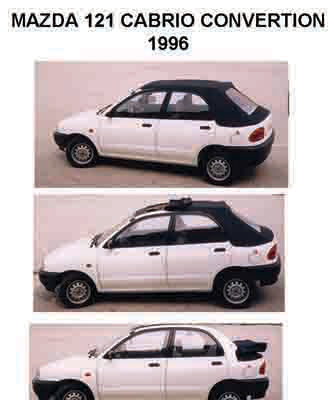 1992 MAZDA 121  KERABOS CONVERTIBLE MODIFICATION